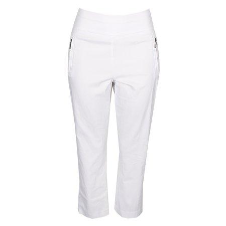 - Inc International Concepts Bright White Cropped Straight-Leg Pants 12