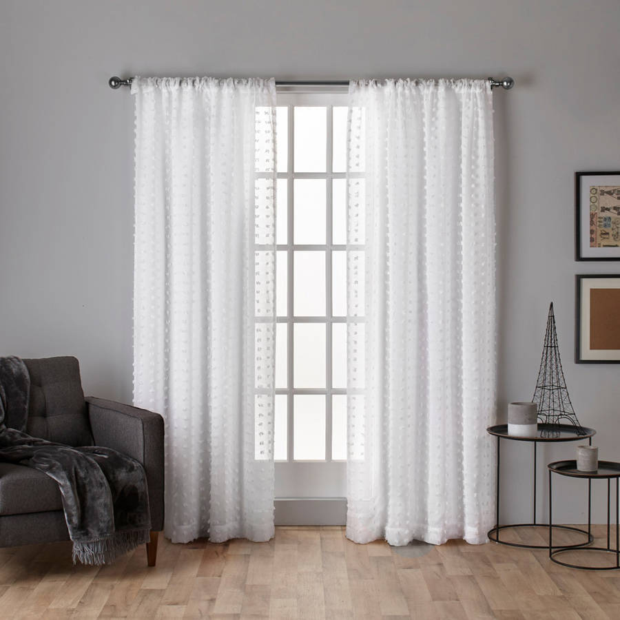 Exclusive Home Spirit Geometric Sheer Rod Pocket Window Curtain Panel Pair by Exclusive Home