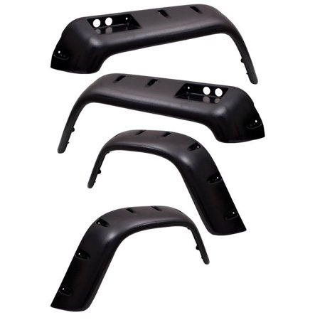 Outland Automotive 6 Piece All Terrain Fender Flare Kit, 4.75 Inch; 76-86 Jeep Cj Models 391163320 All Terrain Fender