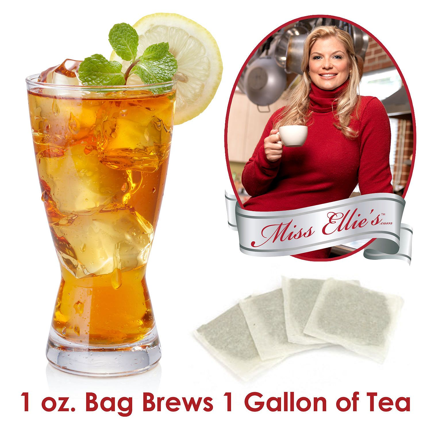 Miss Ellie's Premium Southern Classic Tea Bags, Choose Size