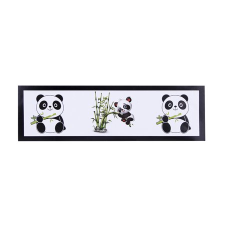 Fancyleo Cute Panda Party Decorations Supplies Disposable Set Paper Cutlery Set (6 Pcs Water bottle sticker) - Panda Party Decorations
