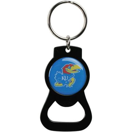 - Kansas Jayhawks Bottle Opener Keychain - Black - No Size