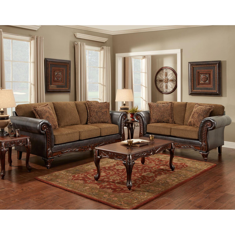 Cambridge Thorton Three Piece Living Room Set: Sofa