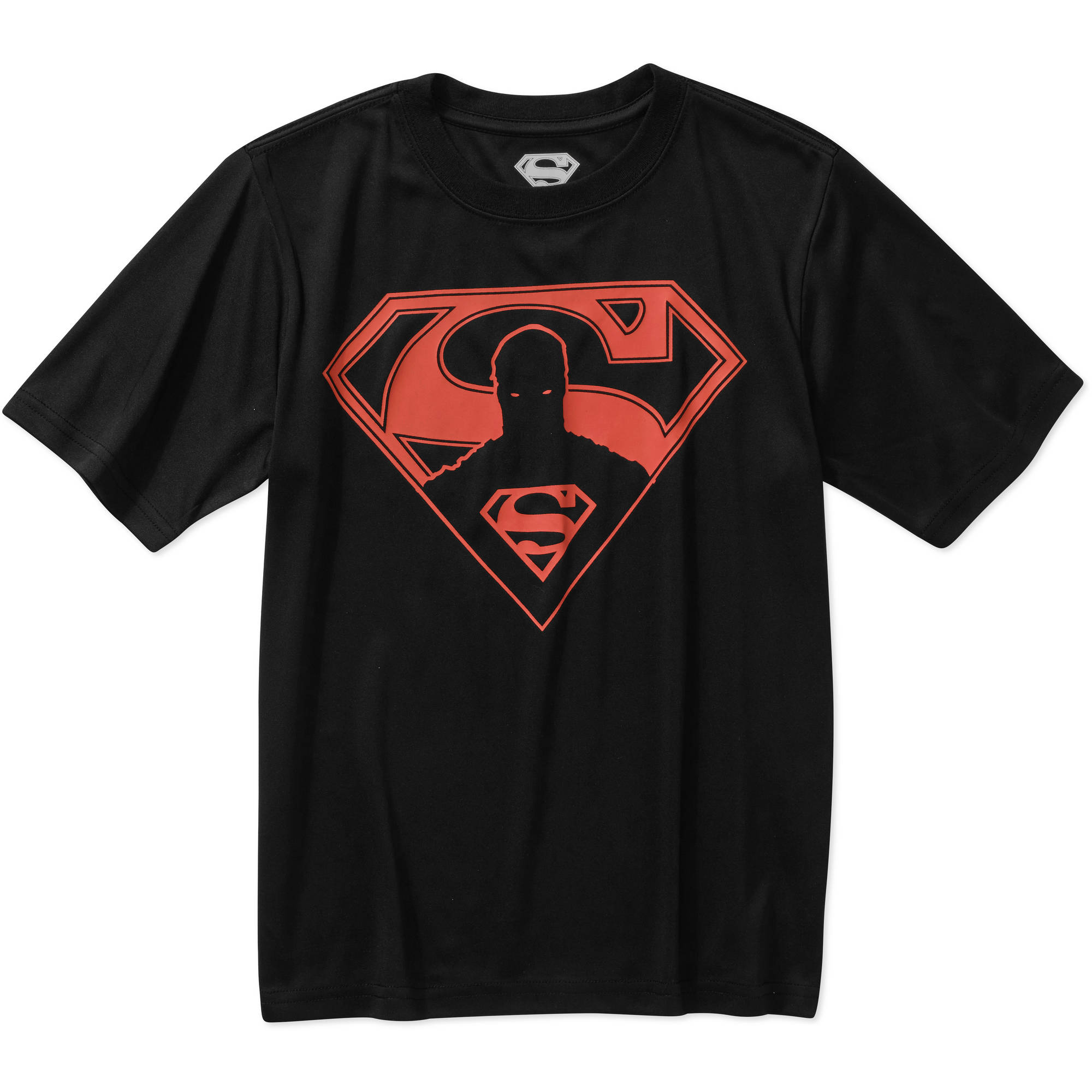DC Comics Superman Hero In Logo Boys' Glow in Dark Poly Graphic Tee