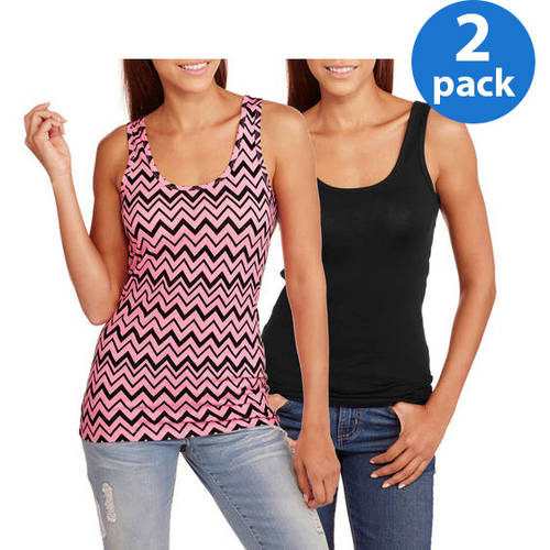 No Boundaries Juniors Plus Graphic Scoop Neck Tank 2 Pack