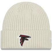 Atlanta Falcons New Era Youth Core Classic Stone Knit Cuffed Hat - Cream - OSFA