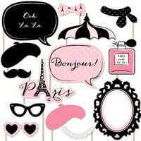 Paris, Ooh La La - Photo Booth Props Kit - 20 Count