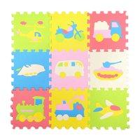 ToyWorld 9pcs/set EVA Foam Children Puzzle Mat Baby Playing Interlocking Floor Pad Indoor Activity Mat - B