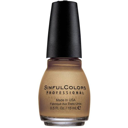 Sinful Colors Vernis à ongles, poussière d'or, 0,5 fl oz