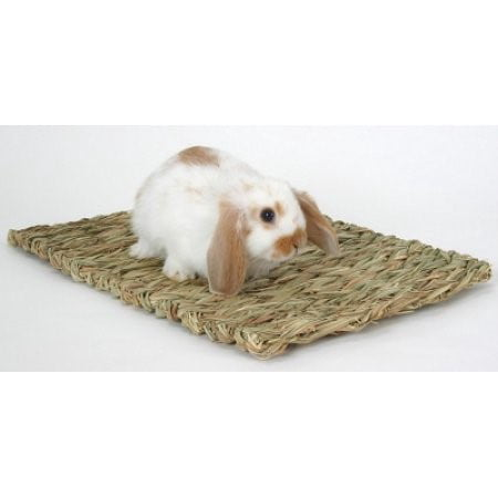 Woven Grass Mat for Small Animals, Brown