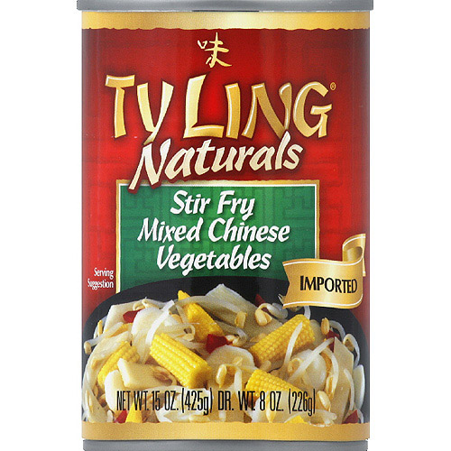 Ty Ling Naturals Mixed Chinese Stir Fry Vegetables, 15 oz, (Pack of 12)