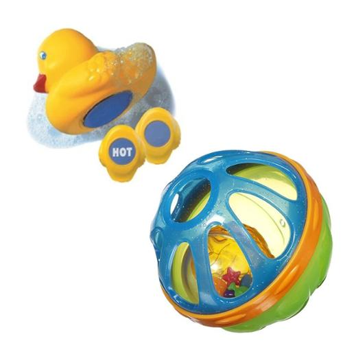 Munchkin Baby Bath Ball with White Hot Bath Ducky, Blue