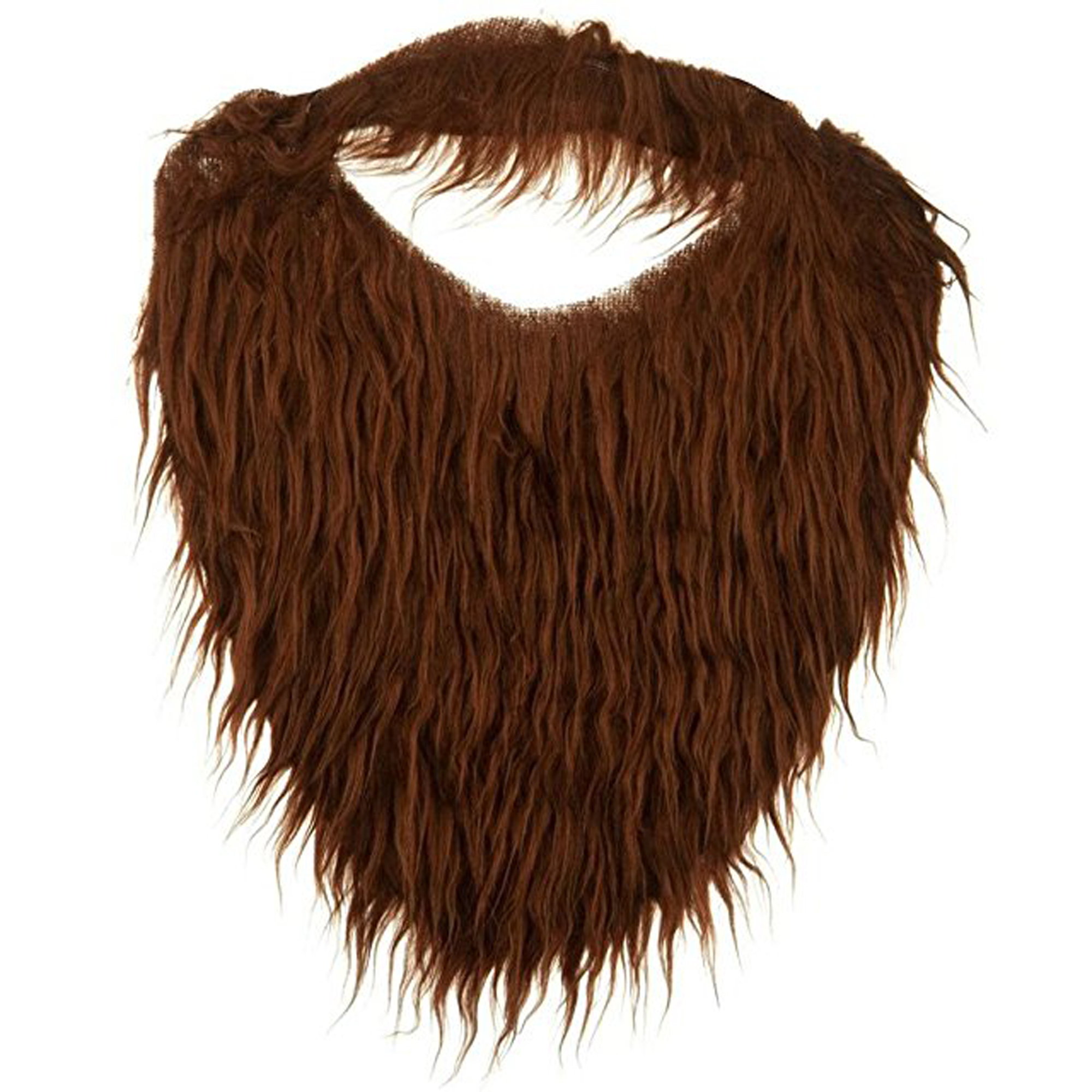 Child or Adult Sized Trimmable Beard & Mustache Combo Brown