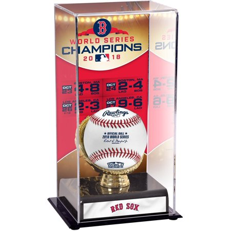 Boston Red Sox 2018 MLB World Series Champions Sublimated Display Case with (Mlb Logo Baseball Display Case)