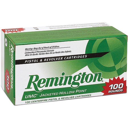Remington UMC Pistol and Revolver Cartridge, 9mm Luger, 115 Gr. JHP, 100-Pack