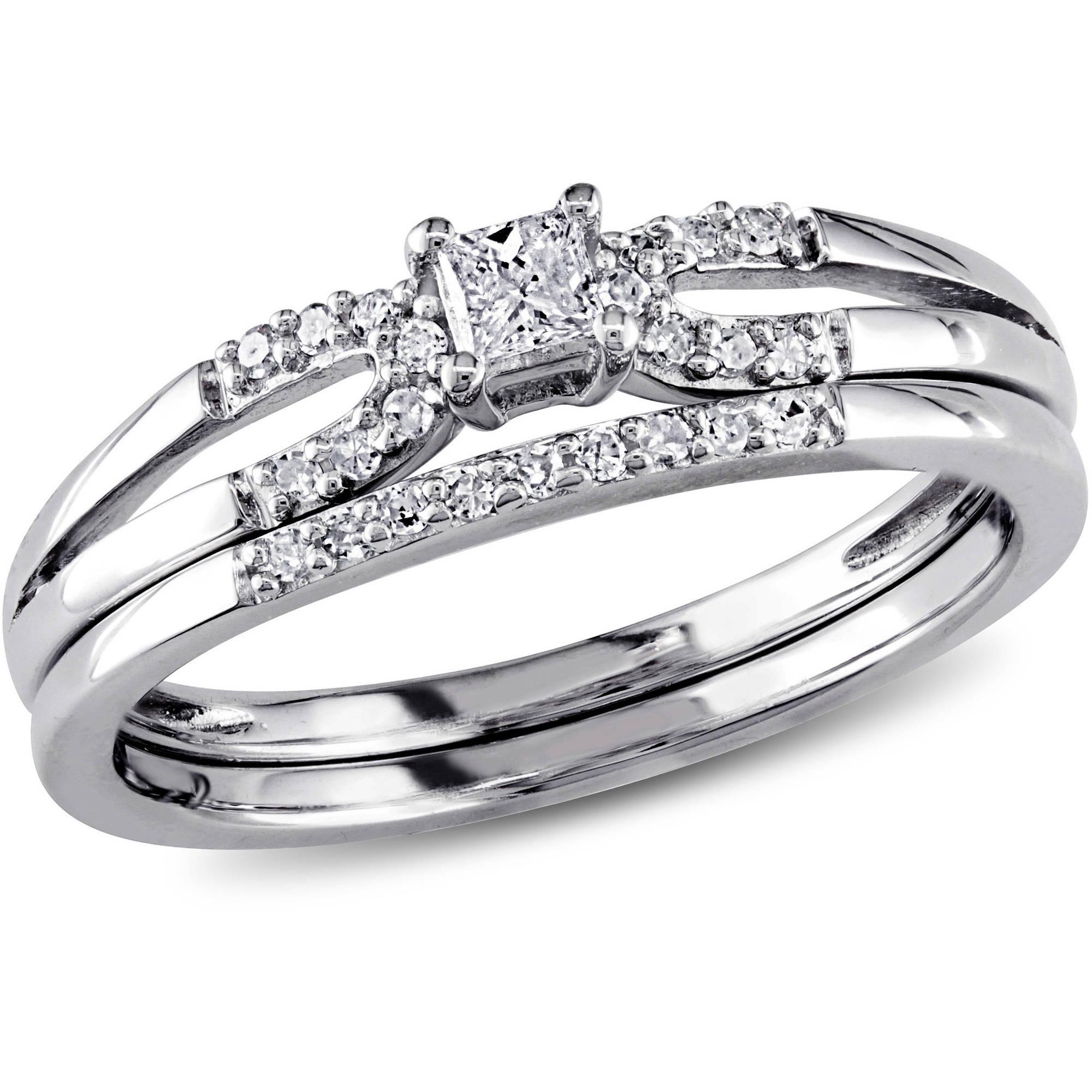Miabella Miabella 1 5 Carat T W Princess And Round Cut Diamond