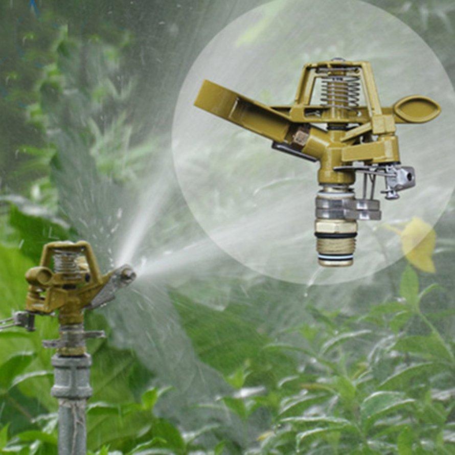 Zinc Alloy Rocker Arm 360Degree Rotating Nozzle Lawn Irrigation Water Jet Head