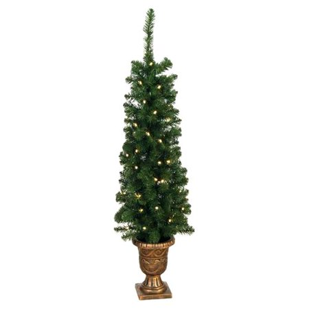- Jolly Workshop Entryway 4' Green Artificial Christmas Tree with 60 Clear Lights (Set of 2)