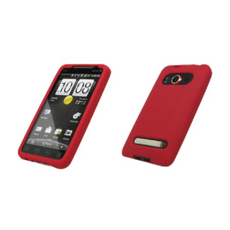 Premium Red Silicone Gel Skin Cover Case for HTC Evo 4G [Accessory Export Brand Packaging]