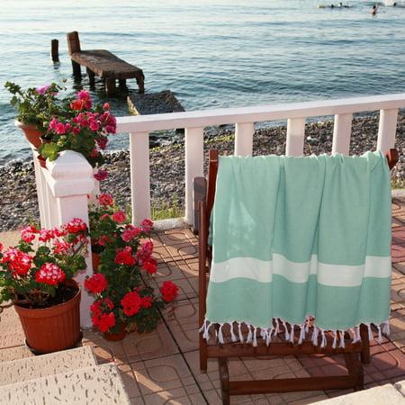 Linum Home 100% Turkish Cotton Diamond Weave Pestemal Beach Towel ()