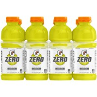 Gatorade G Zero Thirst Quencher, Lemon Lime, 20 oz Bottles, 8 Count
