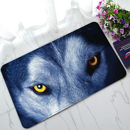 - PHFZK Wildlife Animal Doormat, Beautiful Eyes of Wolf Doormat Outdoors/Indoor Doormat Home Floor Mats Rugs Size 30x18 inches