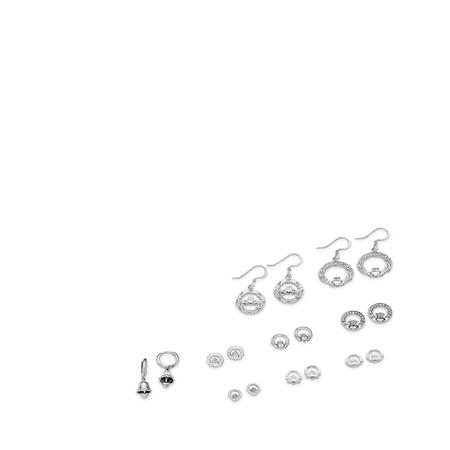 Sterling Silver Claddagh Wire Earrings QE4165 - image 2 de 2