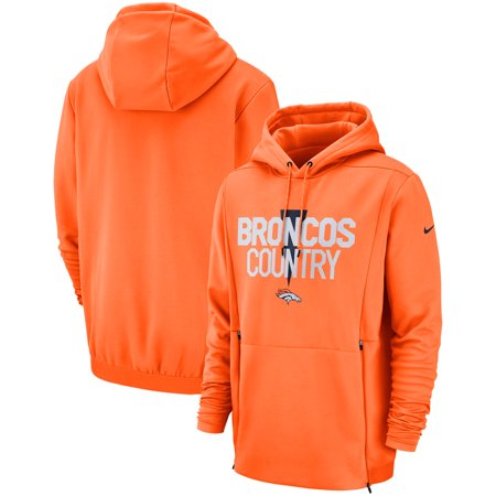 online store 025b4 bbcf4 Denver Broncos Nike Sideline Local Lockup Pullover Hoodie - Orange