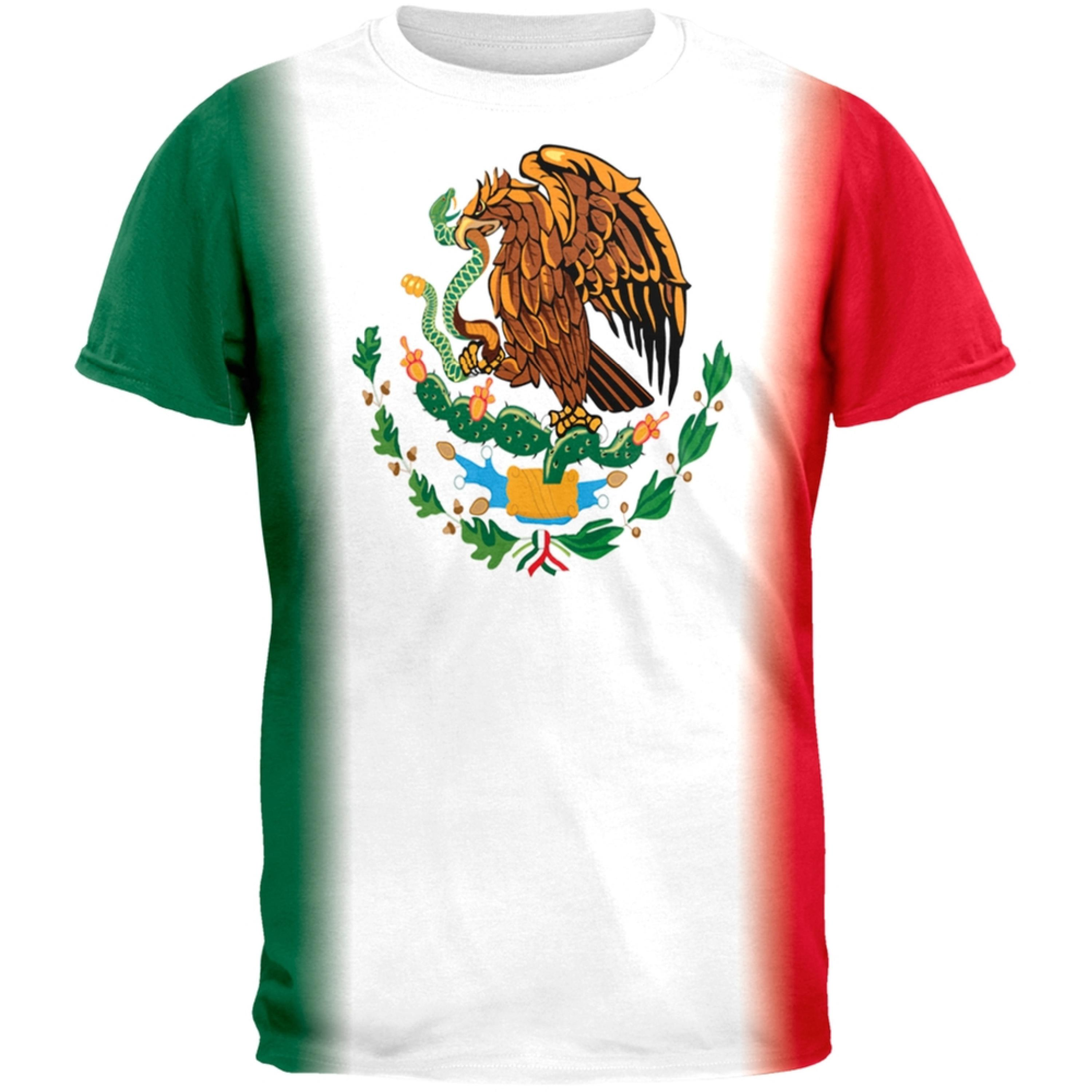 Cinco De Mayo Mexican Flag All Over Adult T-Shirt