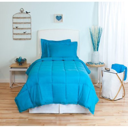 (Aqua Twin Extra Long Down Alternative Comforter Set, By Ivy Union, Twin XL)