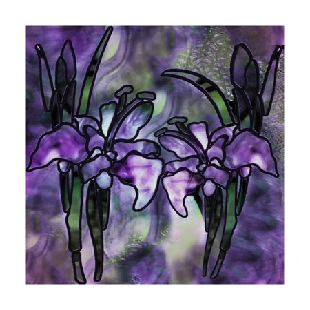 Stained Glass Orchids Print Wall Art By Mindy Sommers ()