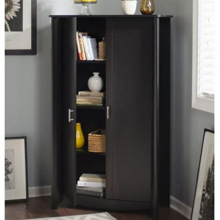 Bush Aero Computer Desk with Tall Storage Cabinet in Classic Black - image 6 de 7