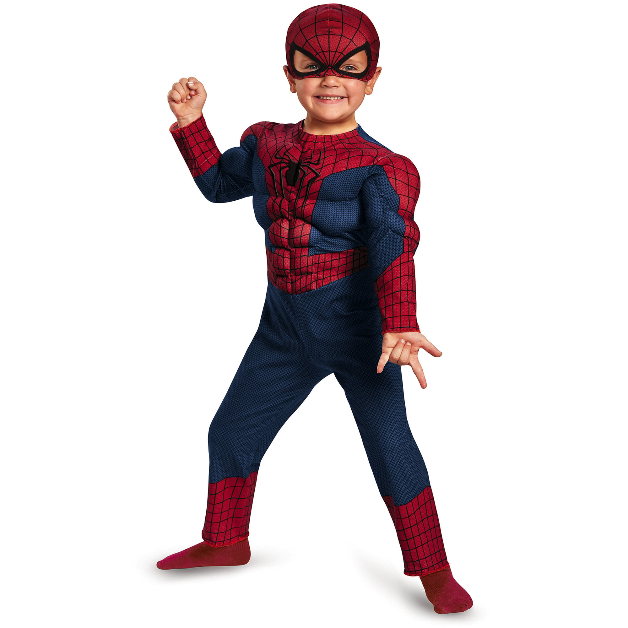 Spider-Man Movie 2 Muscle Toddler Halloween Costume - Walmart.com