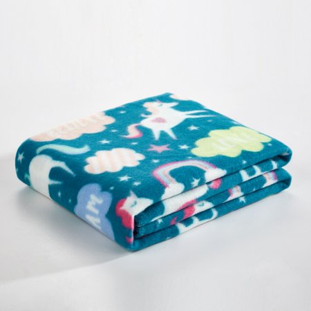 Mainstays Fleece Plush Throw Blanket, Available in multiple prints