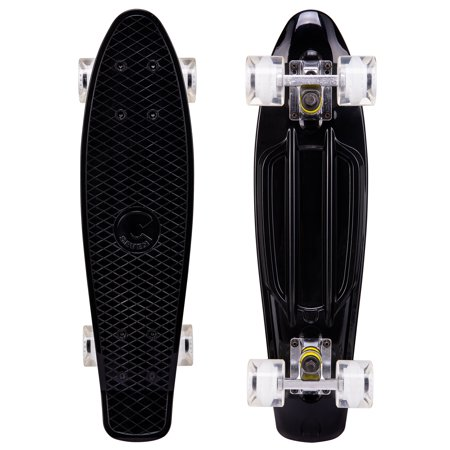 Cal 7 Complete Onyx Mini Cruiser | 22 Inch Micro Board | Vintage Skateboard For School And Travel - Mini Boards