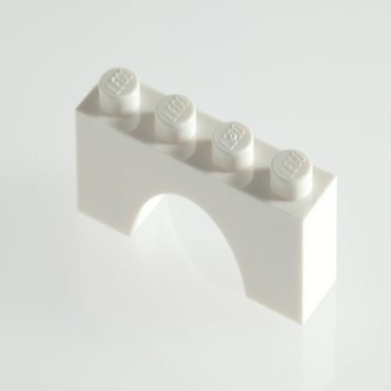 100x Lego White 1x4 Bricks with Bow (Arch) Super Pack