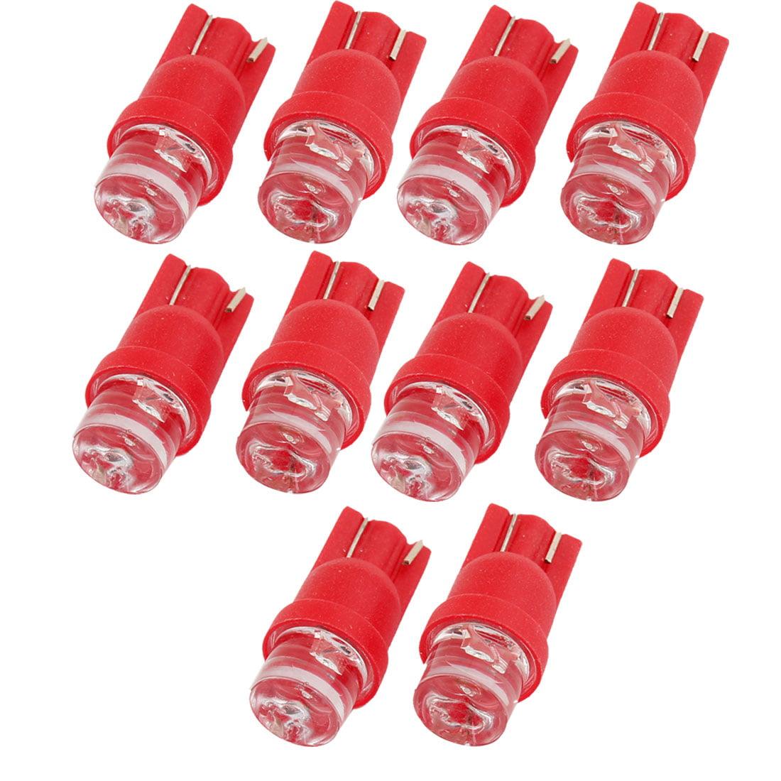 10PCS Red LED T10 W5W 555 558 585 Car Bulbs Side Light Dashboard Lamp DC 12V