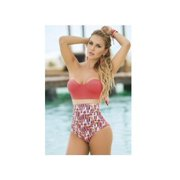 Coral Crazy Coral One Piece Swimsuit Espiral 6769 Coral Large, Large