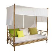 ZEW BE-045 Bamboo Daybed With Canopy