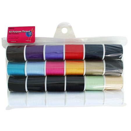 Pulled Thread Stitches - Allary All-Purpose Polyester Sewing Thread Set, 24 Piece