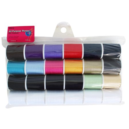 Allary All-Purpose Polyester Sewing Thread Set, 24 Piece