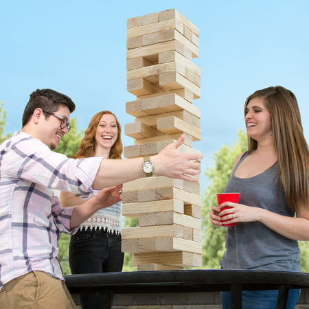 Classic Giant Wooden Blocks Tower Stacking Game, Outdoors Yard Game, For Adults, Kids, Boys and Girls by Hey! Play!](Outdoor Games For Boys)