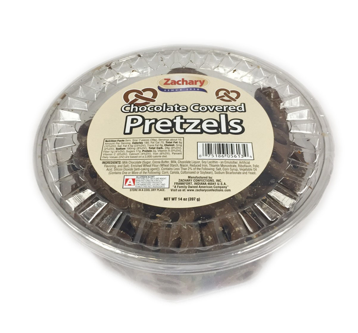 Zachary Chocolate Covered Pretzels Tub - Walmart.com