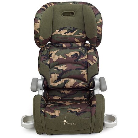 compass folding booster seat camouflage. Black Bedroom Furniture Sets. Home Design Ideas