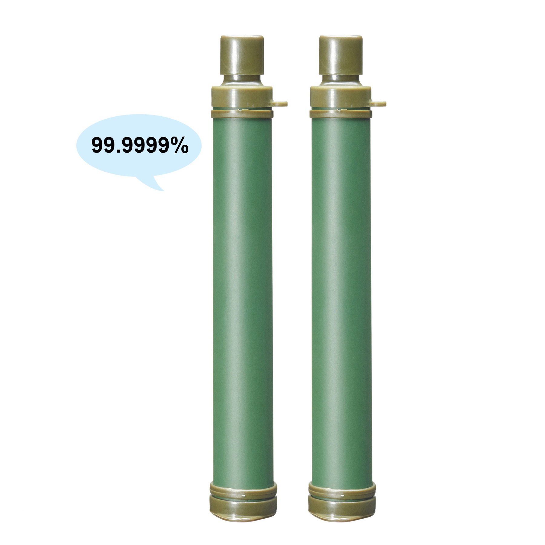 Water Filter Straw Purification Life Emergency Straw Hiking Camping Survival(2 Pack) by