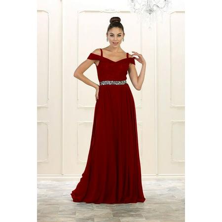 b4080f0a46d7 MQ - Long Plus Size Prom Dress Formal Gown - Walmart.com