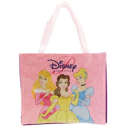 Disney Princess Light Pink and Violet Kids Small Vinyl Tote Bag