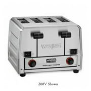 Waring Commercial WCT850RC Heavy Duty Bread and Bagel Toaster, Silver
