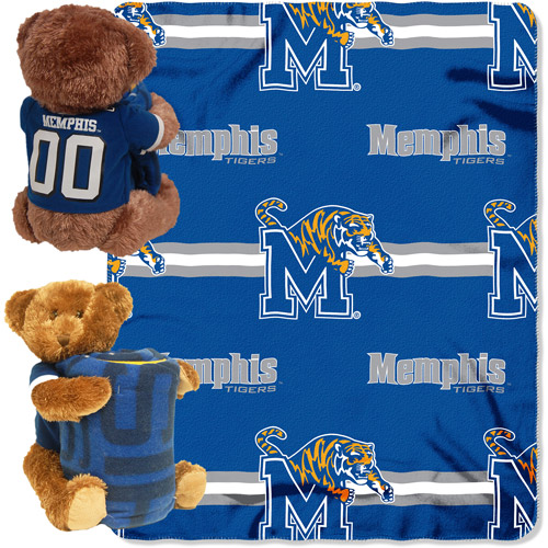 NCAA Memphis Tigers Mascot Bear Throw/Pillow Combo