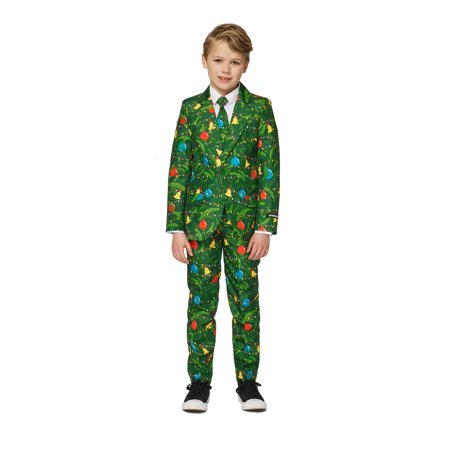 Xmas Suit (Suitmeister Boys Christmas Green Trees Christmas)